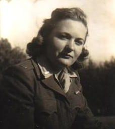 Audrey in uniform